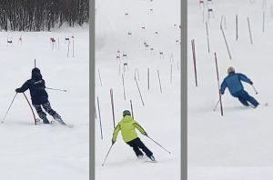 楽しい競技スキー教室でした